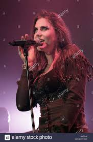 floor jansen of nightwish performing at manchester o2 apollo stock