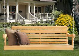 amazon com 5 ft scandinavian style grandpa porch swing from high
