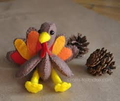 so make your own turkey softies as toys decorations or