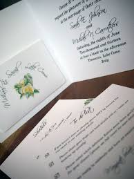 Wedding Inserts Wedding Invitation With Insert Pocket