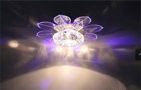 Kitchen Fan Light Fixtures by New Corridor Stairs Crystal Lotus Ceiling Lights Fan Modern Lotus
