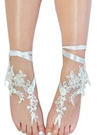 wedding shoes sandals lace barefoot sandals wedding anklet