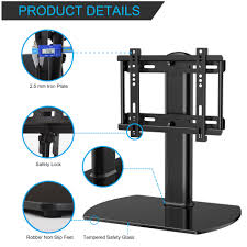 flat iron holder wall mount fitueyes universal tv stand pedestal base wall mount for 27 37