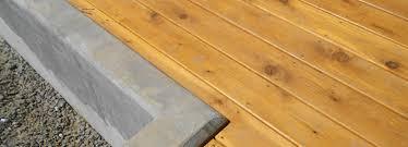 fsc western red cedar decking
