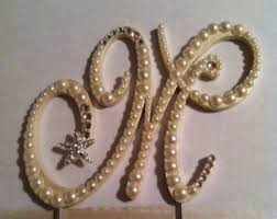 pearl monogram cake topper monogram cake topper pearl cake topper wedding cake topper