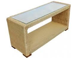 rattan coffee table outdoor slim wicker coffee table