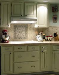 kitchen vintage green kitchen cabinet with mosaic tiles kitchen