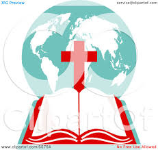 royalty free rf clipart illustration of an open holy bible with