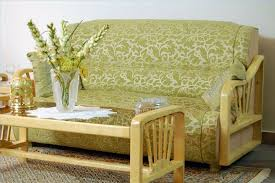 furniture comfortable cheap futons with floral pattern and arm