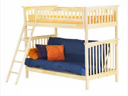 Futon Bunk Bed Wood Remarkable Wooden Bunk Bed With Futon With Futon Bunk Bed Wood