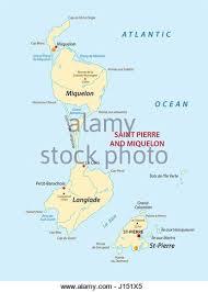 map of st and miquelon map atlantic stock photos map atlantic stock