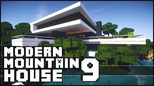 Mountain House Designs Minecraft Epic Modern Mountain House 9 Youtube