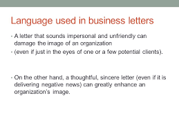 Business Letter Language business letter language language used in business letters a letter