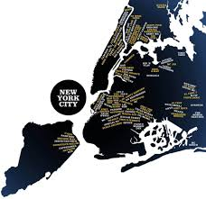 A Map Of New York City by Here Is A Map Of New York City Hip Hop Artists Borough By Borough