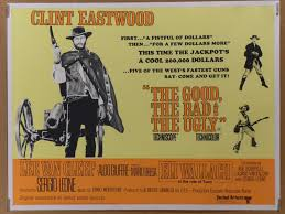 Good Bad Ugly The Good The Bad And The Ugly Vintage Movie Poster At