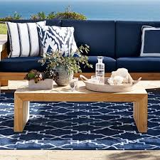 Indoor And Outdoor Furniture by Moroccan Gate Indoor Outdoor Rug Navy Williams Sonoma