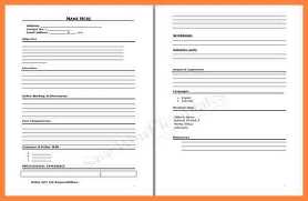 Free Fill In Resume Templates Resume Blank Template 40 Blank Resume Templates Free Samples