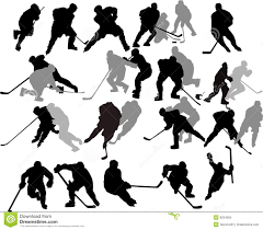 free hockey player silhouette clipart collection