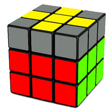 5 a yellow cross on the top of the rubik s cube
