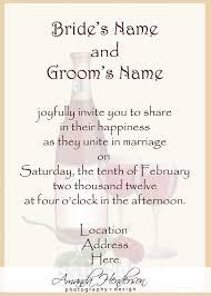 sample wedding invitation wording sample wedding invitation
