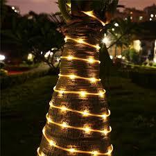 100 led rope lights solar powered light for the