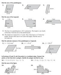 area of triangles and trapezoids worksheet free worksheets library