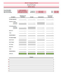 Balance Sheet Reconciliation Template Proof Of Template Free
