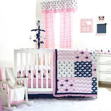 pink whale crib bedding set