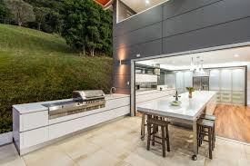 Backyard Kitchen Design Ideas Indoor Outdoor Kitchen Designs Stainless Steel Natural Gass Grill