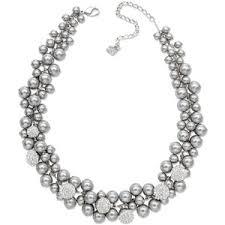pearls swarovski necklace images Swarovski necklace grey crystal pearl necklace polyvore out=j