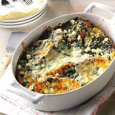 spinach feta strata recipe taste of home