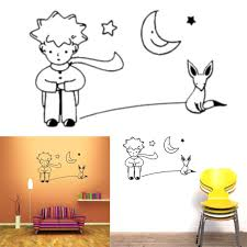 the little prince fox moon star decor mural art wall sticker decal environmentally friendly