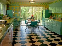 Retro Kitchen Design by Lori U0027s Pink Blue And Yellow Retro Kitchen A Whole Lot Of Lovin