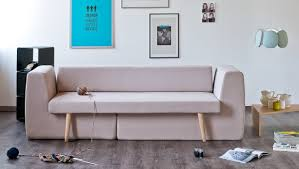 small space hacks this modern sofa splits into three brit co