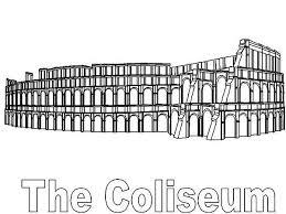 classic colosseum ancient rome coloring netart