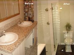 bathroom remodel ideas before and after bathroom remodel with glass shower lightning construction
