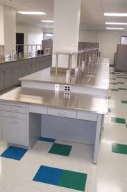 Laboratory Countertops Gallery Before And After Lab Bench Images Base Cabinets With Stainless Steel Countertops And Single Reagent