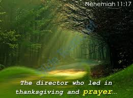 nehemiah 11 17 the director who led in thanksgiving powerpoint