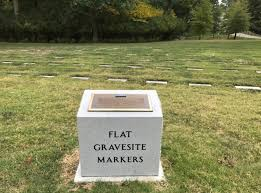 flat headstones for new monuments draw attention to flat grave markers at jefferson