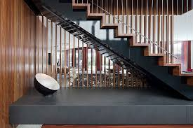 Open Staircase Ideas Inspired Stainless Steel Griddle In Staircase Contemporary With