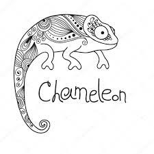cute chameleon in ethnic style u2014 stock vector baksiabat 30662323