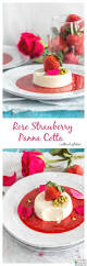 rose strawberry panna cotta without gelatin cook with manali