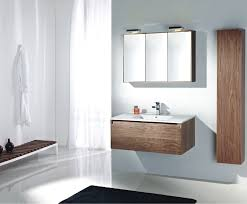 bathroom modern light brown vanity with drawers and vessel sink
