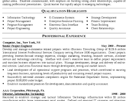 It Management Resume Examples by It Manager Resume Example Program Manager Qualification Highlights