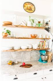 re styling kitchen open shelves