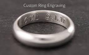 ring engraving single wedding ring engraving add custom ring engraving