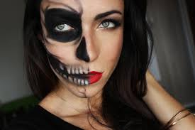 Halloween Skeleton Face Makeup by Makeup And Art Freak Half Skull Half Glamour Last Minute