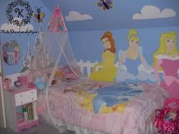 Disney Princess Wall Mural Custom Design Hand Paint Girls Bedroom - Girls bedroom wall murals