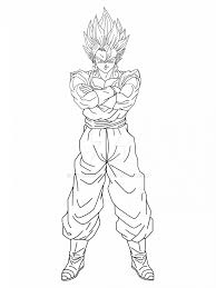 coloring pages breathtaking vegito coloring pages dragon ball