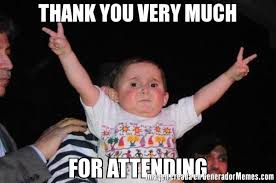 Thank You Very Much Meme - thank you very much for attending meme de bebe victorioso